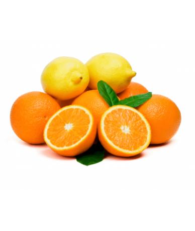 naranja y limón 100% natural